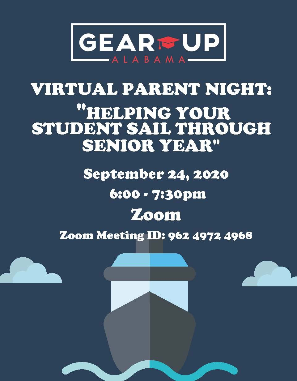 GEAR UP Senior Parent Zoom Meeting
