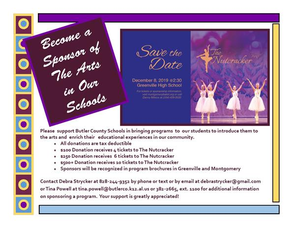 Request for Sponsor - The Arts in Our Schools
